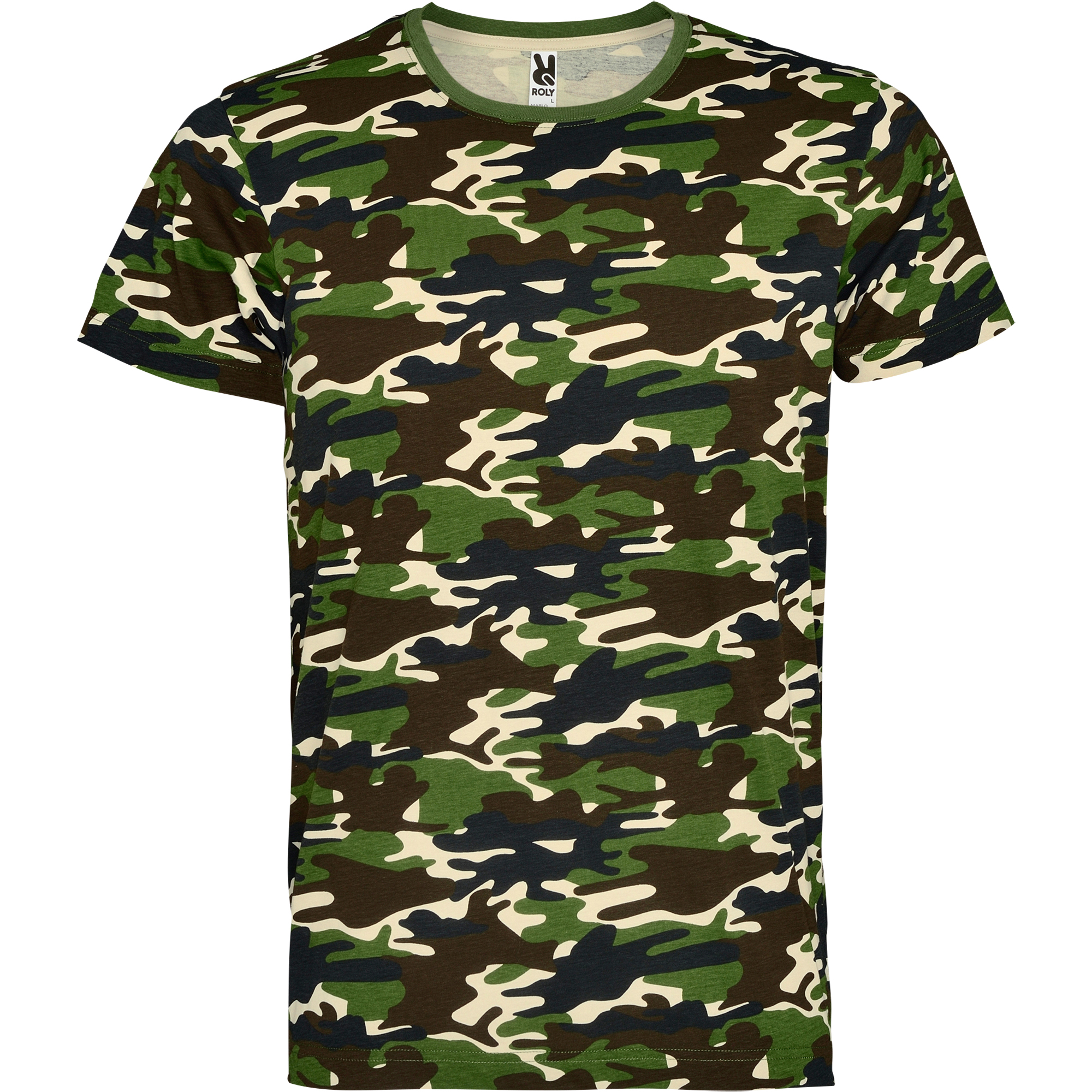 T Shirt Promotional Marlo Cf1033 Forest Camouflage Roly